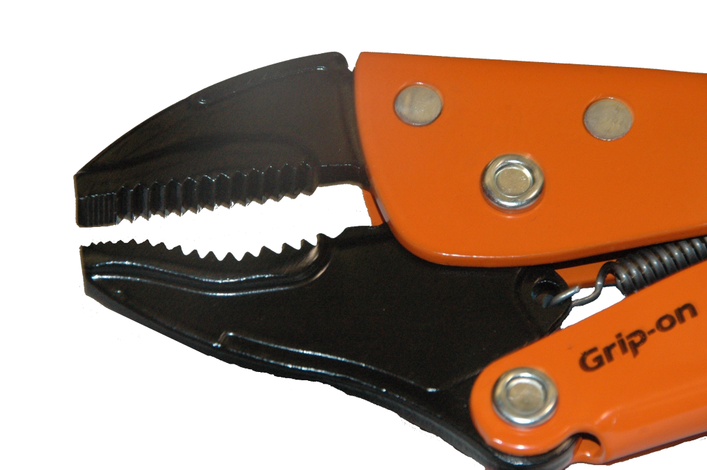 Nickel-Plated Grip-On 111-10 10-Inch Curved Jaw Locking Pliers